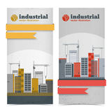 Industrial banners set Royalty Free Stock Photography