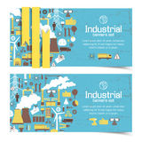 Industrial banners set Stock Image