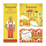 Industrial banners set with workman Royalty Free Stock Photography