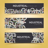 Industrial banners with text fields Stock Photos