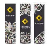 Industrial banners with text fields Royalty Free Stock Photography