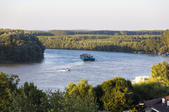 Free Industrial Barge On Danube   Royalty Free Stock Photo - 47282885