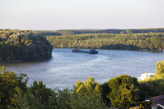 Free Industrial Barge On Danube   Stock Image - 51773011