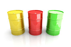 Industrial Barrels Royalty Free Stock Photography