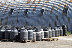 Industrial barrels Stock Images