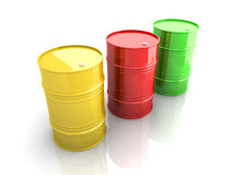 Industrial Barrels Stock Photography