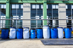 Industrial barrels Stock Image