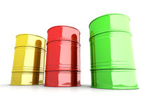Industrial Barrels Royalty Free Stock Images