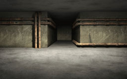 Industrial basement background Stock Images