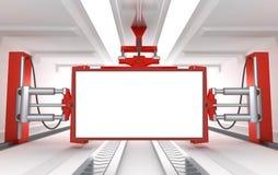 Industrial blank billboard Royalty Free Stock Photo