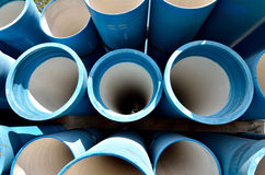 Industrial blue pipes Stock Photos