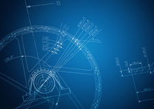 Industrial blueprint Stock Image