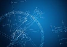 Industrial blueprint Stock Image