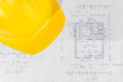 Industrial blueprints closeup Stock Image