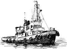 Industrial Boat Royalty Free Stock Photo