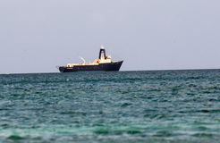 Industrial boat in caribbean Royalty Free Stock Images