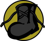 Industrial boot vector illustration Stock Photo