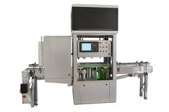 Industrial bottling machine Stock Photo