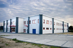 Industrial building. General view of a modern industrial building royalty free stock photos
