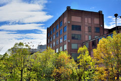 Industrial building in Chicago beside Chicago River. Industrial building beside Chicago River. Photo taken in October 6th, 2014 Stock Images