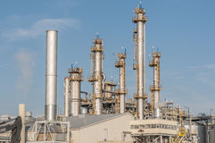 Industrial building and chimnney Stock Image