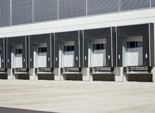 Industrial building, commercial warehouse. Modern Industrial building exterior and commercial warehouse Stock Photography
