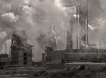 Industrial Building Emissions Stock Image