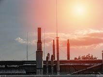 Industrial building environment, with various elements Stock Image