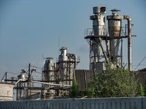 Industrial building environment, with various elements Stock Photography