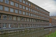 Industrial Building Ghent City Royalty Free Stock Photography