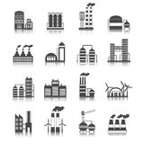 Industrial building icons Royalty Free Stock Photography