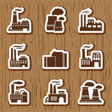 Industrial building icons Stock Photography