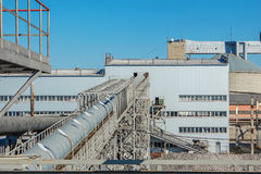 Industrial building plant for the production of sugar from sugar Stock Photos