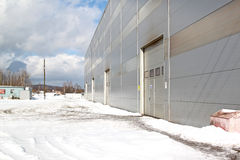 Industrial building prospect. Prospect of a modern building of the panels of the industrial plant Stock Photo