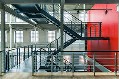 Industrial building with red wall royalty free stock photo