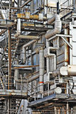 Industrial building, Steel pipe royalty free stock images