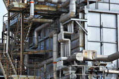 Industrial building, Steel pipe Royalty Free Stock Photo