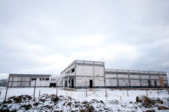 Industrial building in winter Stock Photos