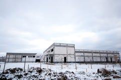 Industrial building in winter Stock Photos