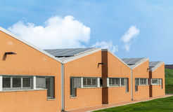 Free Industrial Building With Photovoltaic Panels On The Roof Royalty Free Stock Images - 41120349
