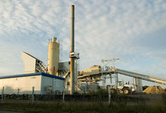 Industrial buildings. A group of industrial buildings involved in gravel production royalty free stock photo