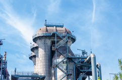 Industrial buildings, blast furnace, tower Royalty Free Stock Images