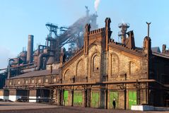 Industrial buildings built in the early 20th century stock image