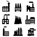 Industrial buildings, factories and power plants Stock Photography