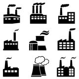 Industrial buildings, factories and power plants. Polluting with smoke Stock Photo