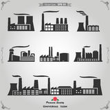 Industrial buildings, nuclear plants and factories Royalty Free Stock Photo