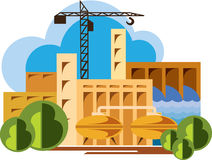 Industrial buildings pictograms - Illustration Royalty Free Stock Images