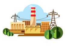 Industrial buildings pictograms - Illustration Royalty Free Stock Photography