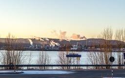 Industrial Buildings in Örnsköldsvik Stock Images