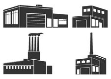 Industrial buildings Royalty Free Stock Images